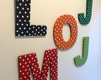 Wooden letter Wall letter IN STOCK and ready to ship Hand painted wooden letter