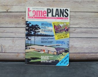1973 Distinguished Home Plans and Products Magazine, House Plans Magazine, Mid Century Houses Magazine, Blueprints, Architectural Plans