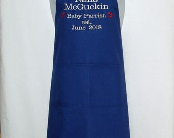 Nana Apron, Established Family, New Grandparent Birth Announcement, My Idea Custom Personalized Gift, Blog Apron, Ships Quickly AGFT 1230