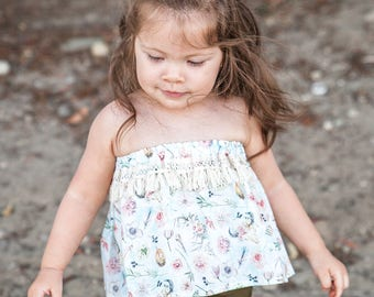 B O H O  C O L LE C T I O N // Boho Fringe Swing Top /  Toddler Top / Baby Top / Boho  / Baby clothing / Toddler Clothing / Summer Top