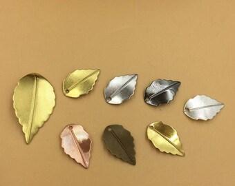 Wholesale 100 Brass Filigree Leaves 10x17mm/ 16x25mm Raw Brass/ Antique Bronze/ Silver/ Gold/ Rose Gold/ White Gold/ Gun-Metal- Z7832