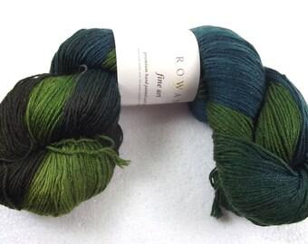 43% Off Rowan Fine Art Sock Yarn 100g Hand Painted Wool Nylon Mohair Silk 306 Lapwing