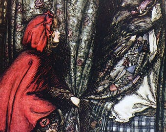 Red Riding Hood, Arthur Rackham, Vinatge Art Print