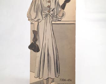 1930's Vogue Pattern Counter Display Advertising Stand-up