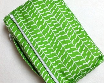 Bible Cover Custom Fit Green and White