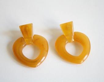 Retro Lucite Earrings