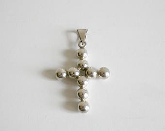 Mexican Taxco Sterling Cross Pendant