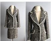Reserved for Rishi // Do not purchase. 60's Lilli Ann Suit // Vintage 1960's Boucle Wool Lilli Ann Skirt Suit S