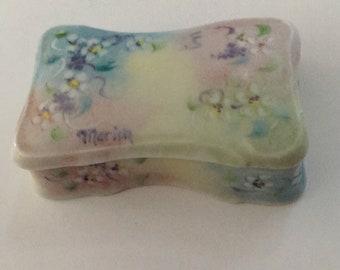 Gorgeous Little Porcelain Trinket Box