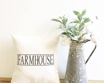 farmhouse pillow cover, farmhouse style, modern farmhouse decor, fixer upper decor, Joanna Gaines decor, housewarming gift, throw pillow