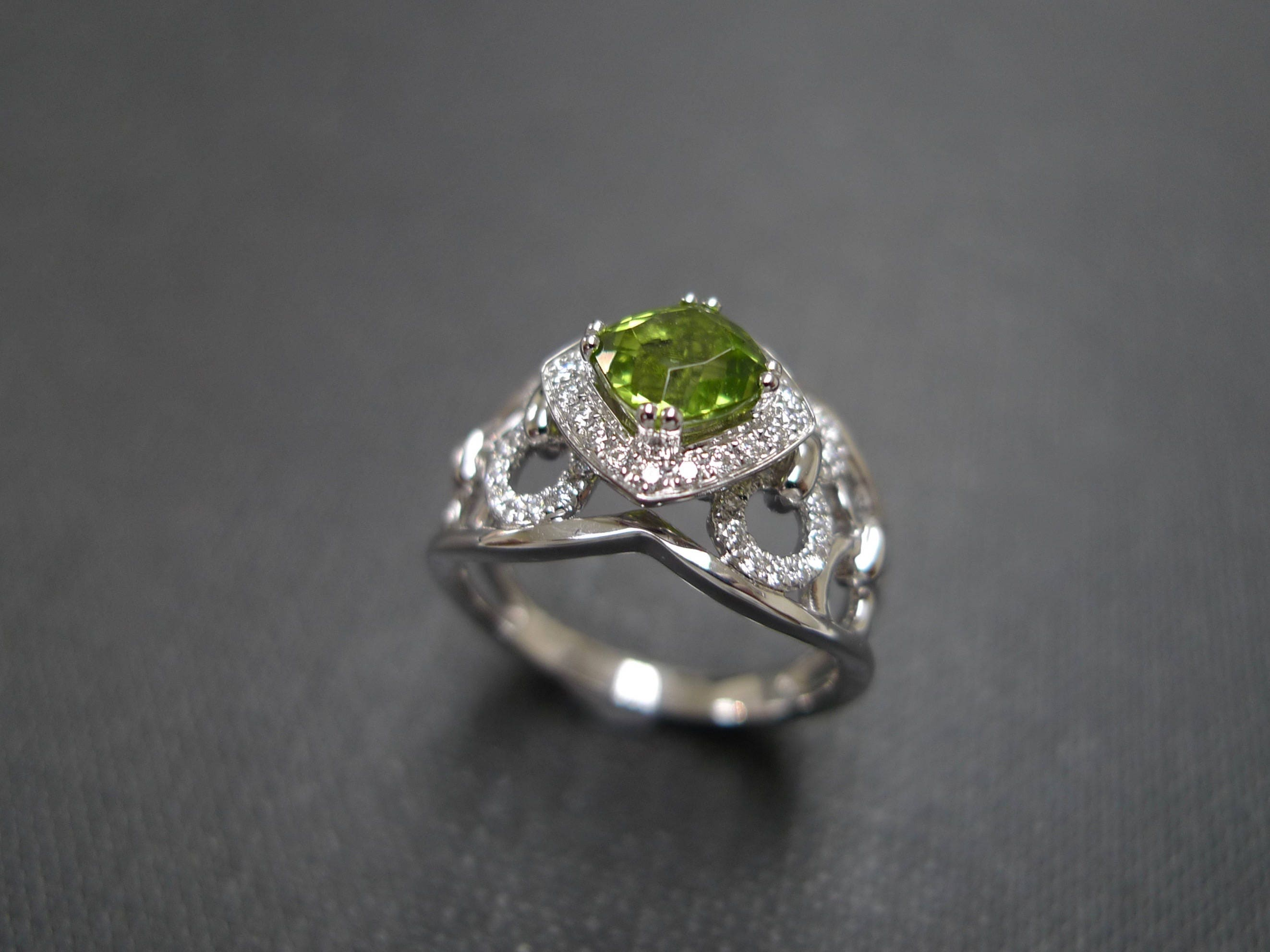 peridot wedding rings peridot engagement ring peridot cut ring in 14k white 6465