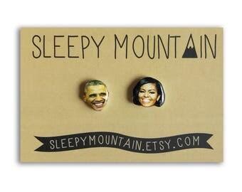 Barack and Michelle Obama Earrings