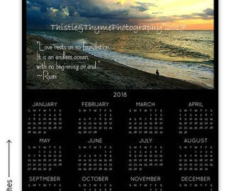 2018 Calendar - Single page with one photo of your choice from the shop - Custom Printed