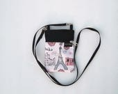 Sparkly Eiffel Tower Cell Phone Purse or Water Bottle Purse