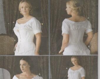 Corset Pattern  Chemise Historical Civil War Era  Reenactment Misses Size 6 - 8 - 10 - 12 Uncut Simplicity 7215