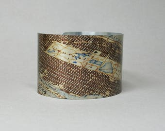 Central Park New York City Vintage Map Cuff Bracelet NYC Manhattan Unique Gift for Men or Women