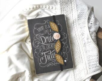 BIRTHDAY SALE Flower Bookmark - Unique Bookmark - Teacher Gift - Reader Gift - Gift for Book Lover - Book Band - Planner Band -