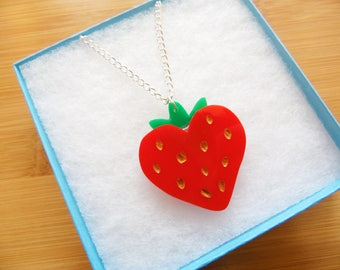 Strawberry Heart Necklace
