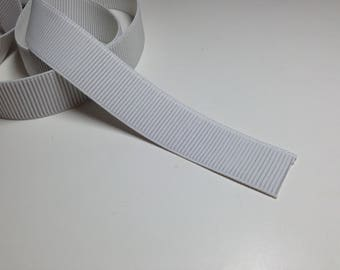 Wide White Elastic, Ribbed non-roll elastic, 1 1/2 inch wide Elastic, 5 yards, Sewing Supplies