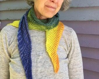 Multi-colour merino scarf