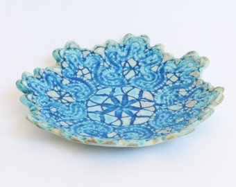 Blue porcelain bowl