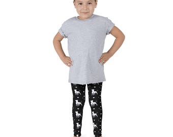 Pit Bull Love Kids Leggings • White/Grey/Black • American Bulldog Pittie Staffordshire Toddler Childrens Girls