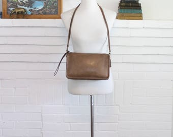Vintage Coach Bag // Coach Basic Bag Convertible Clutch Camel Putty Tan New York City