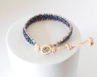 Beaded Bracelet, Single Wrap Bracelet, Tango Bracelet, Boho, Beaded Jewelry, Geometric Jewelry, For Her, BeadXS, Bead Bracelet