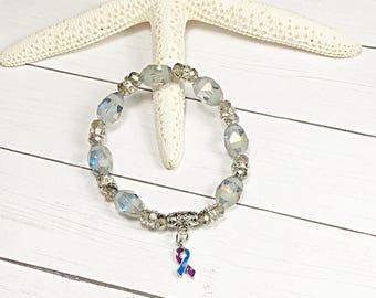 Rheumatoid Arthritis Awareness Bracelet, RA Awareness Bracelet, Rheumatoid Arthritis Awareness Jewelry, RA Awareness Jewelry, Hope Bracelet