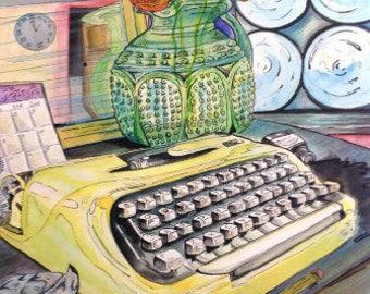 Typewriter Memento Mori