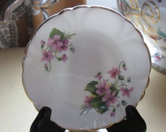 Bone China Pin Dish Violets Princess House Exclusive Hammersley Spode Made in England Small Plates YourFineHouse SHIPSWORLDWIDE
