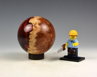 Australian red mallee burr & resin hybrid sphere, woodturning, gift,