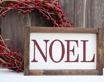 NOEL sign, NOEL painted wood sign, Christmas wood sign, Christmas sign, Christmas decor, Holiday decor, holiday wood sign, Farmhouse style