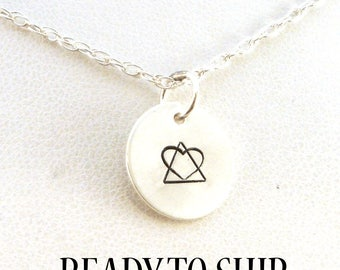 Adoption Symbol Necklace / Adoption Necklace / Adoption Jewelry / Sterling Silver / Birth Mother Necklace / Social Work / Ready to Ship
