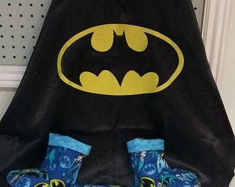 Clubfoot Boots and Bar Cover with Batman Cape