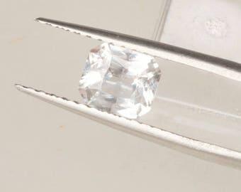 Radiant Cut White Sapphire 8 x 7 MM Precision Cut Gemstone