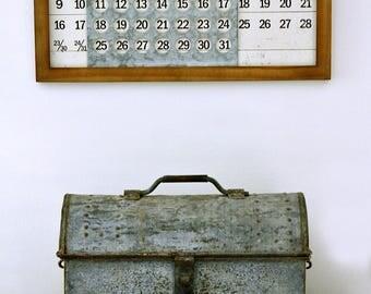Vintage Metal Tool Box | Rusty Metal Tool Box | Metal Box with Lid | Metal Box