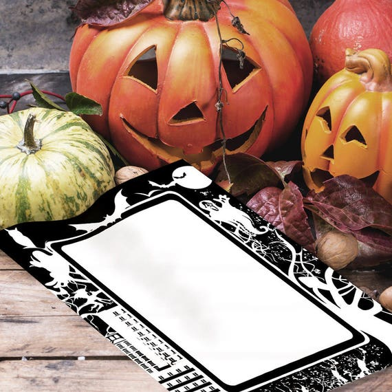 Spooky City Halloween Book of Shadows Page