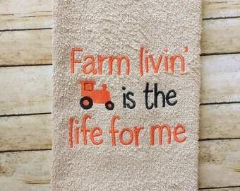 Farm Kitchen towel- hostess gift, decorative towels, decor, unique gifts,Massey Ferguson kitchen, Massey Ferguson towel, tractor towel, Case