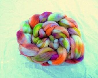 4 oz braid of hand-dyed Cormo roving
