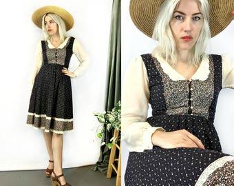 Vintage 1970s Gunne Sax Prairie Dress size Small