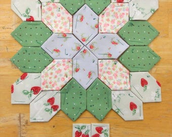 Lucy Boston Patchwork of the Crosses summer cottage block kit #7