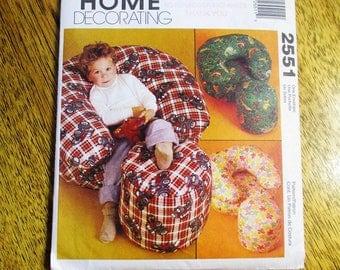 CUTE Kids Soft Lounge Chair Ottoman DIY Fun Funky Home