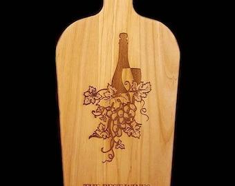 Best Friend, Friendship, Wine and Grape Decor, Cutting Board, Wine and Cheese Board