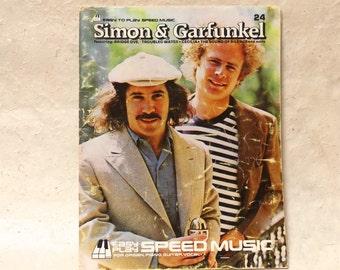 Vintage Retro Music Booklet Simon & Garfunkel Easy to Play Speed Music