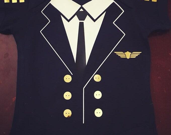 Pilot Baby Bodysuit - Baby, Toddler, baby shower, halloween onesie, costume onesie, police officer onesie