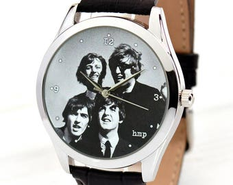 The Beatles Jewelry Watch | Music Lover Gift | Gifts for Musicians | Leather Watch | Mens Watch | Mother's Day Gift | FREE SHIPPING
