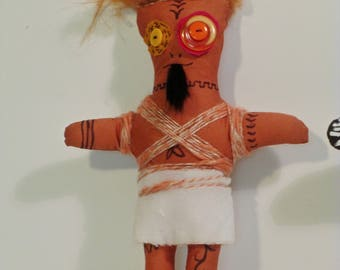 Brown witch doctor doll