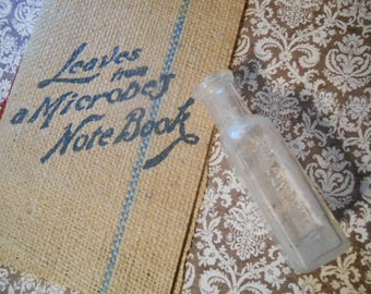 Leaves from a Microbes Note Book Borolyptol Promo Ad with Original Pharmaceutical Bottle 1800s
