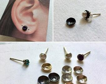 Ear Jackets Second Hole, Second Hole Ear Jacket, Earring Jacket, Ear Jacket, Stud Ear Jacket, Gold Ear Jacket, Silver Ear Jacket